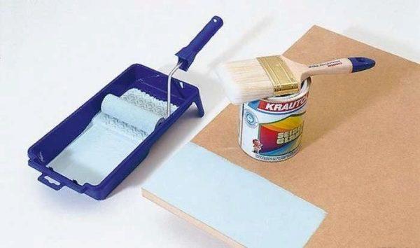 В случае необходимости покрыть каркас можно лакокрасочными изделиями
