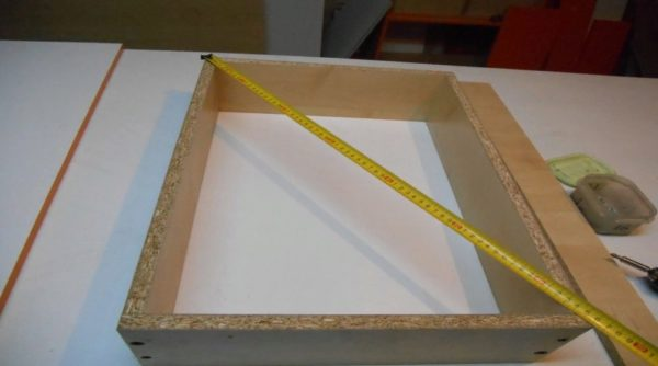 Измеряем готовые ящики