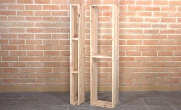 В стеллаж будут входить блоки разного типа