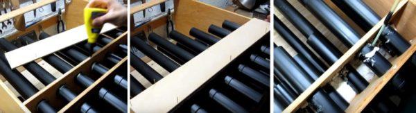 Внутреннее пространство инструмента заполняют монтажной пеной