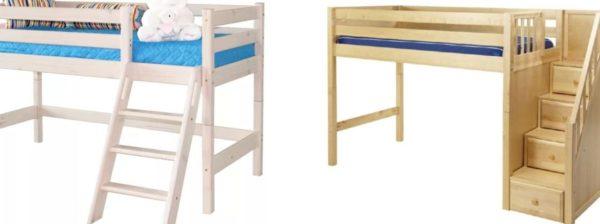 Варианты установки лестниц для кровати
