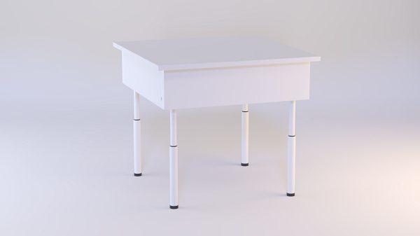 Такой телескопический стол уместен даже в простом интерьере