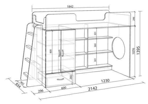 Необходимо создать предварительный чертеж кровати, где будут обозначены размеры деталей