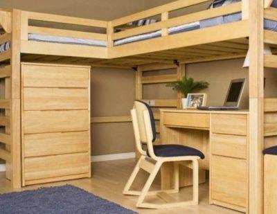 Как сделать кровать-чердак своими руками 42 фото Как сделать кровать из дерева с рабочей зоной для взрослых