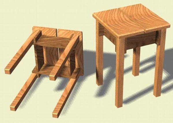 Чаще всего табуретки делают из дерева