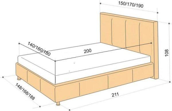 Чертеж будущей кровати