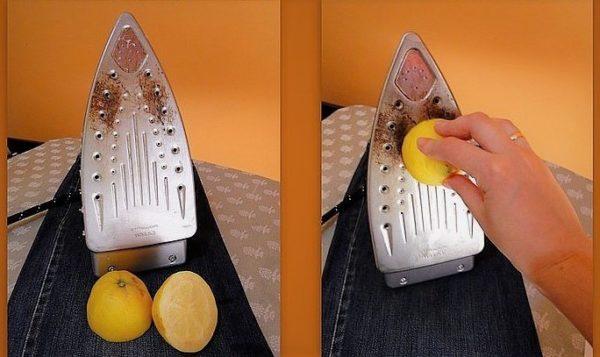 Чистка утюга лимоном