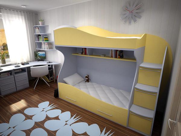Двухуровневая кровать из ДСП