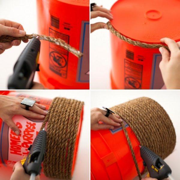 Если в намотке обнаружились промежутки, отдельно проклейте шнур в местах пробелов