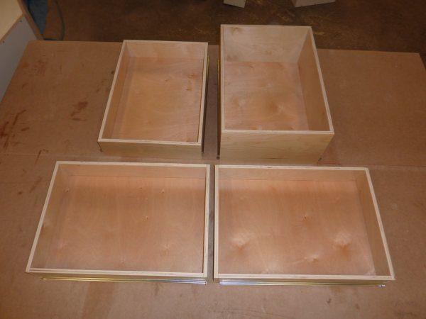 Готовые ящики для кухонной тумбы