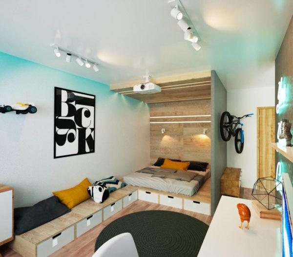Идея интерьера квартиры 30 кв. м