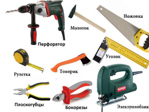 Инструменты, которые могут потребоваться для работы