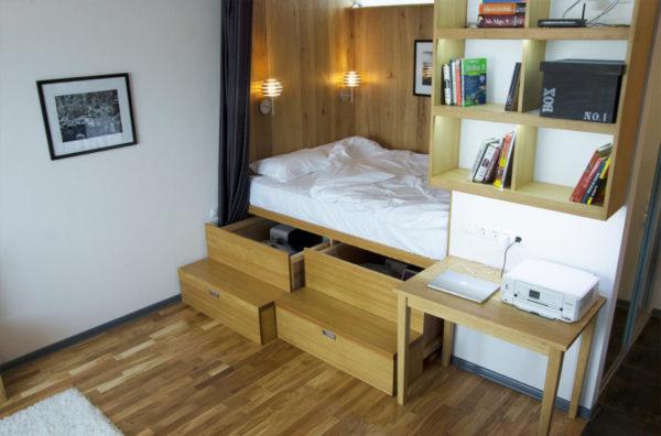 Интерьер очень маленькой квартиры в стиле эко-минимализм