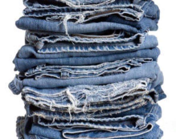 Из джинсов следует заготовить кусочки