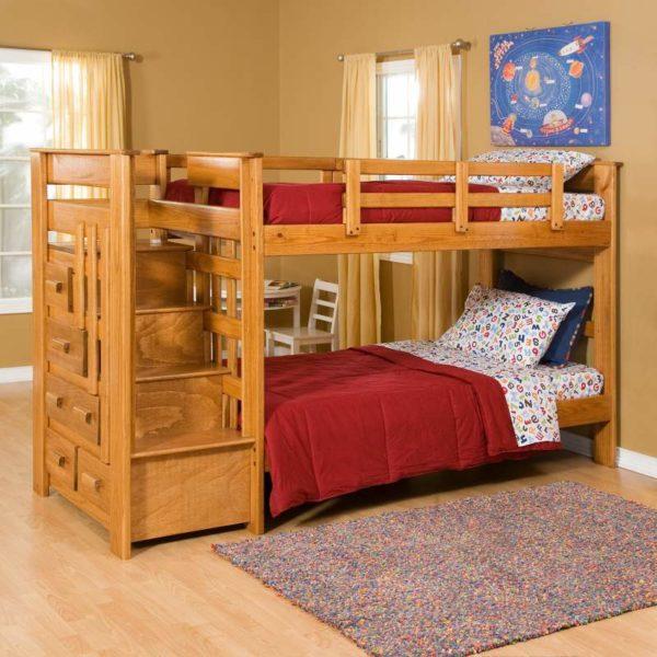 Классическая кровать на два этажа
