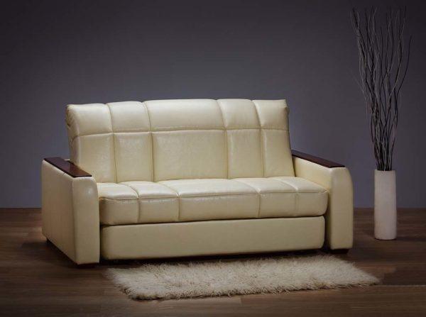 Кожаный диван-аккордеон