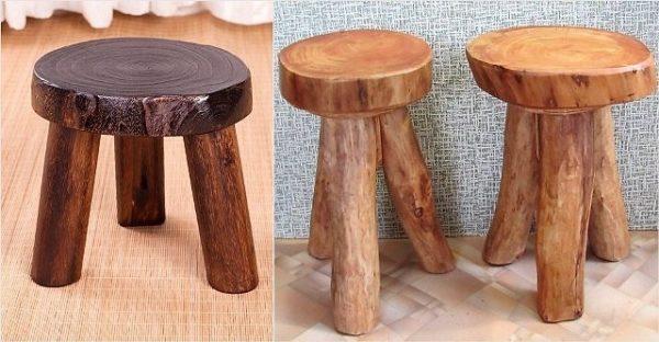 Креативные деревянные табуретки