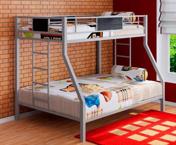 Кровать двухъярусная для ребенка и взрослого