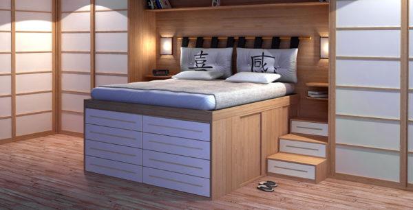 Кровать-подиум – предмет роскоши или практичный элемент интерьера?