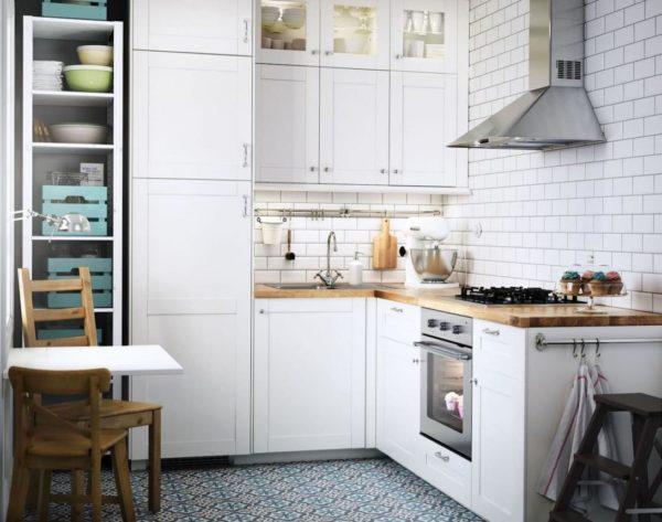 Кухня – не место для массивной нефункциональной мебели