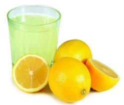 Сок лимона, вода