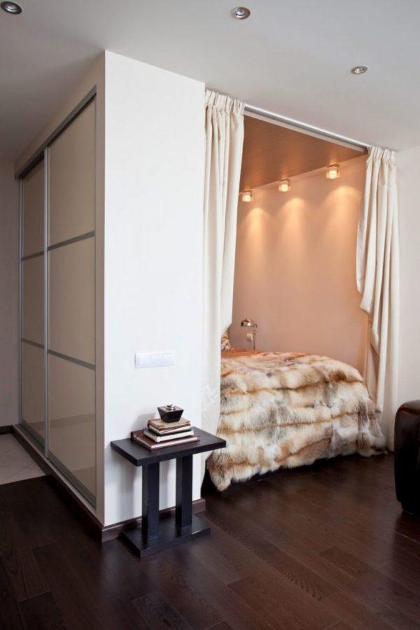 Маленькая студия со спальней, 33 кв. м