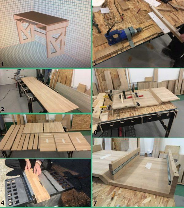 Мастер-класс изготовления стола из массива ясеня своими руками
