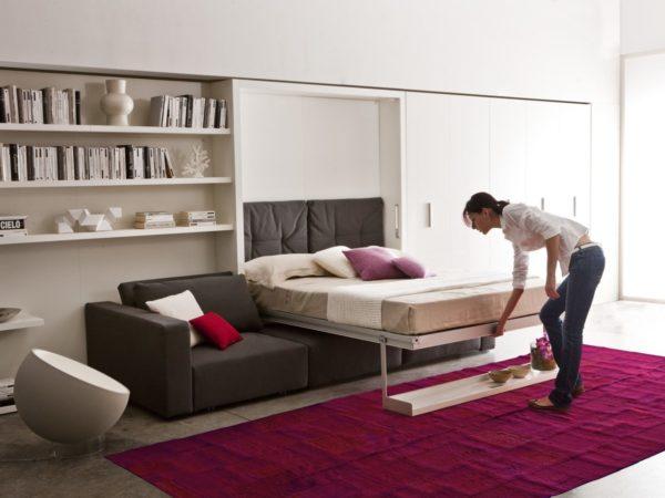 Мебель для спальни в современном стиле предполагает минимализм в деталях интерьера при максимальной функциональности