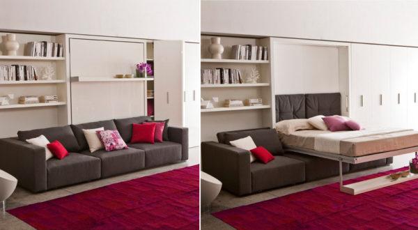 Мебель трансформер должна органично смотреться в контексте комнаты