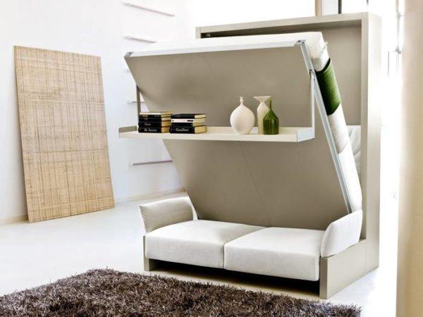 Мебель трансформер успешно используется для обустройства компактных студий
