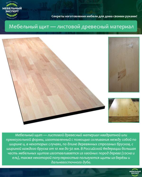 Мебельный щит — листовой древесный материал