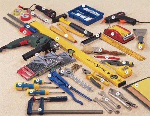 Набор инструментов для самостоятельного изготовления различных конструкций