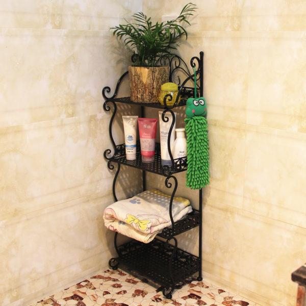 Напольный стеллаж для ванной комнаты