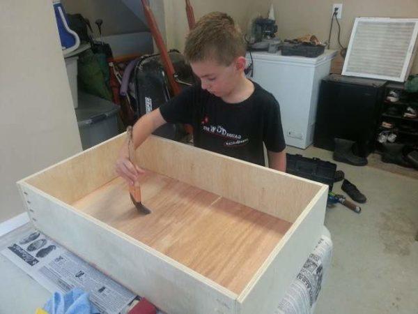 Обработка готового ящика