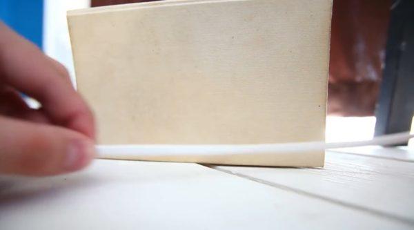 Отмеренное расстояние должно соответствовать промежутку между патронами на самой раме