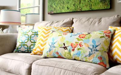 Подушки для дивана своими руками