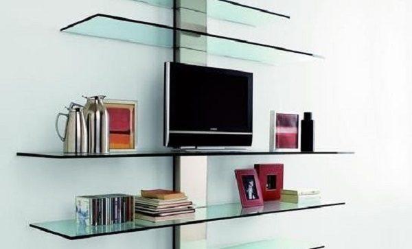 Полки из стекла под телевизор
