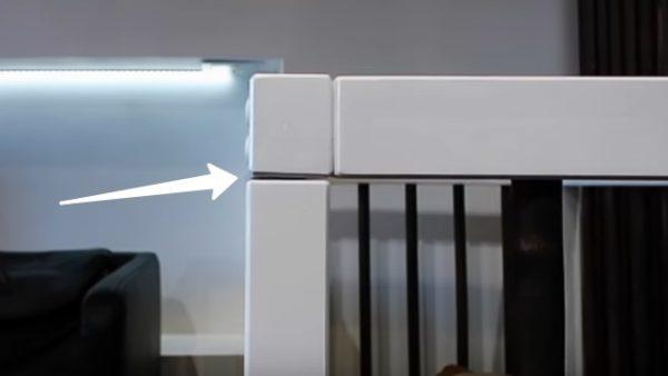 При изготовлении конструкции возможен небольшой перекос