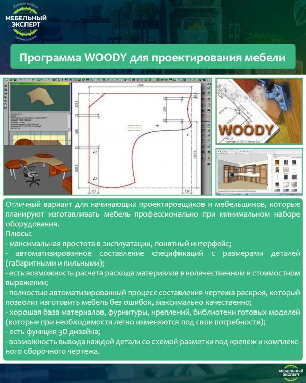 Программа WOODY для проектирования мебели