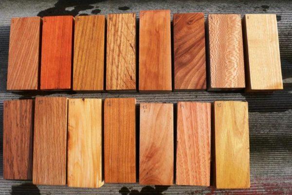 Различные породы натуральной древесины