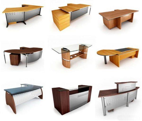 Различные виды столов