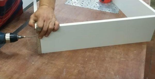 Сборка каркаса выдвижного ящика