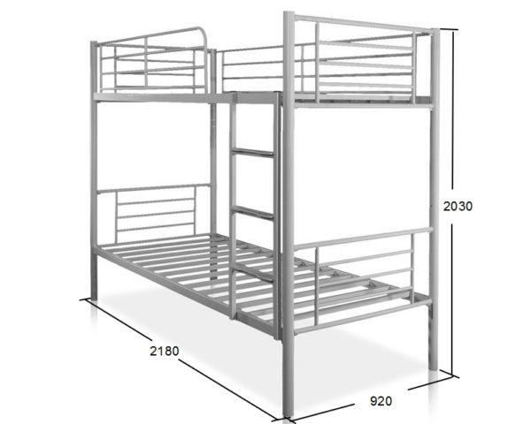 Схема металлической двухъярусной кровати