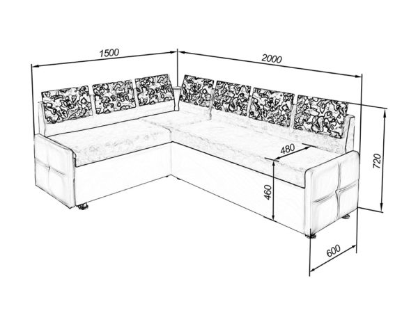 Схема модели для шести человек