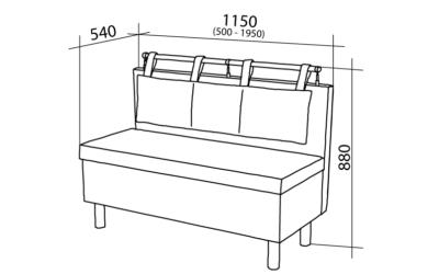 Схема простого кухонного диванчика
