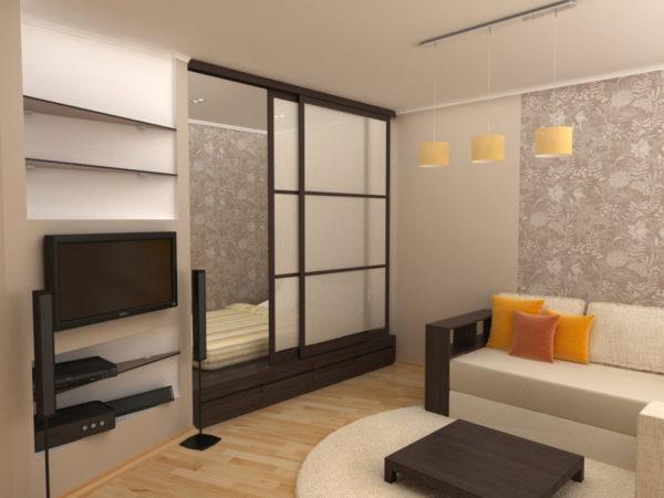 Шкафы с зеркалами отлично дополняют небольшие пространства
