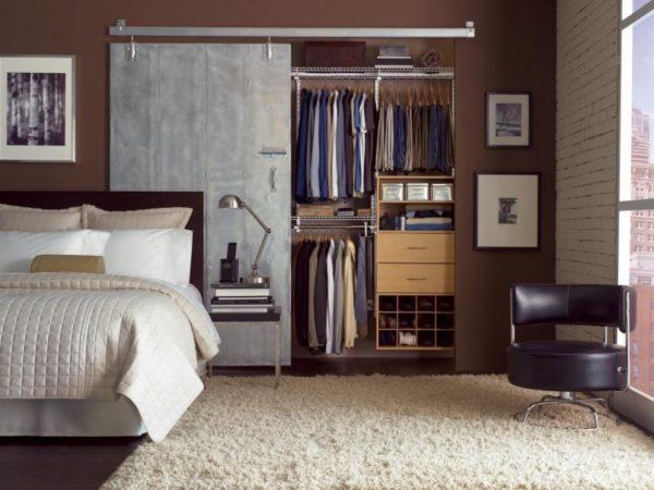 Шкафы в стиле лофт подходят для установки в квартире или студии