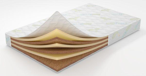 Сочетание синтетических и натуральных слоев в матрасе
