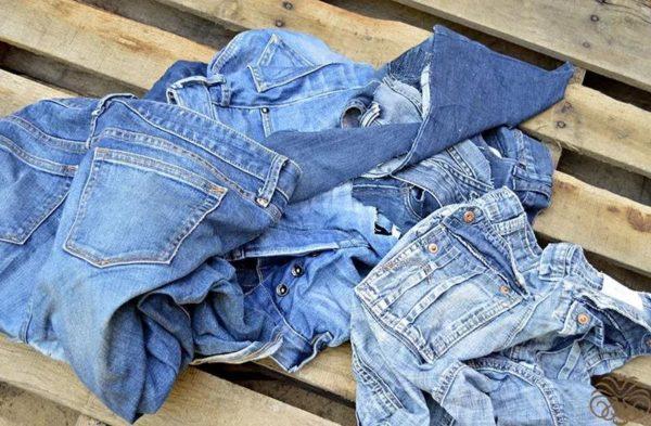 Старые джинсы должны иметь опрятный вид