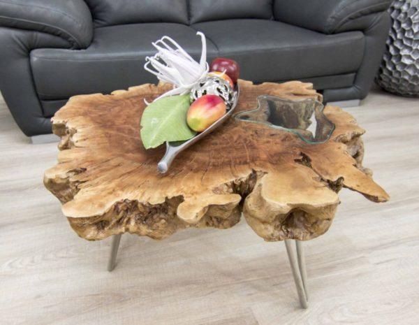 Столик журнальный из натуральной древесины